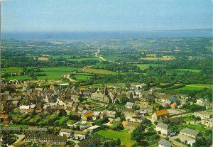 Photo du patrimoine des Pieux, vue du ciel de la commune